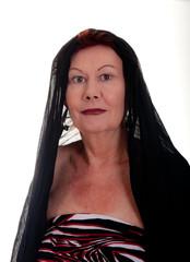 Older Woman with Black Shawl