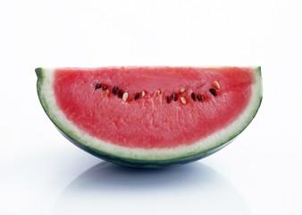half of juicy watermelon