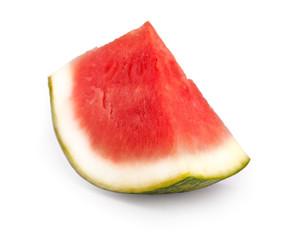 Melone mit Schatten isoliert auf weiß