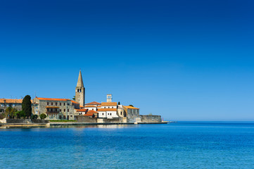 Porec - old Adriatic town in Croatia, touristic destination.