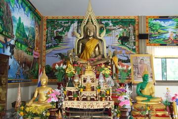 buddha image, Wat Lhao Yao, Borabue, Mahasarakam
