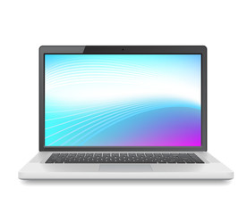Laptop with abstract wallpaper
