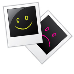 Photo frames with smileys