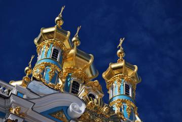 Les bulbes du Palais de Tsarskoye Selo