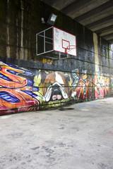 pista de baloncesto urbana