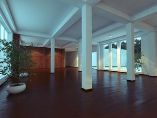 modern empty interior