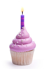 Wall Mural - Birthday cupcake