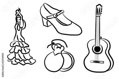 Flamenco   Dibujos para colorear