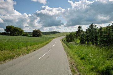 typical danish country road