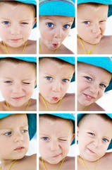 child emotions collage