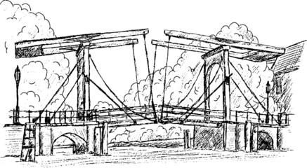 vector - magere brug hand draw, isolated on background