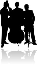 Silouette einer Band  / Musikgruppe