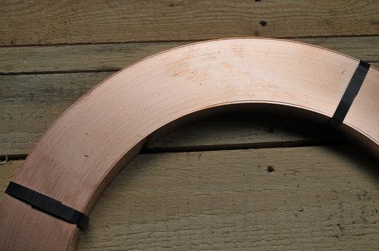 Kupferblech auf einem Coil