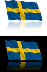 Swedish Flag Flowing