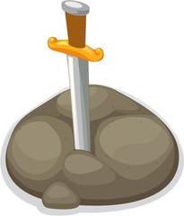 A Sword in a mud