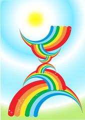 Poster Regenboog rainbow background