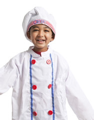 Smilimg Toddler Dressed as a Chef