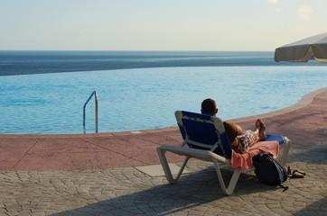 piscina, playa, vacaciones