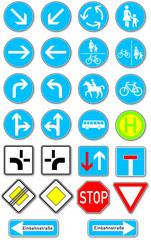 Gebotsschilder im Straßenverkehr