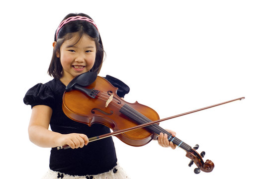 Little Asian Violinist
