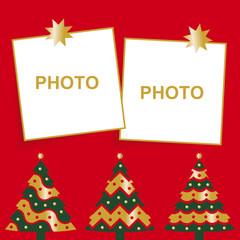 felicitación de navidad con dos fotos