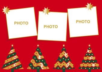 felicitación de navidad con tres fotos