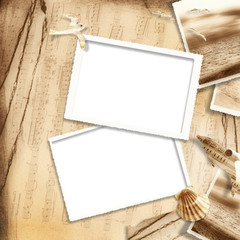 Vintage background with old frame