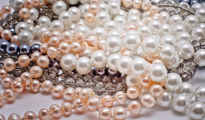 pearls, glass and plastic jewelry