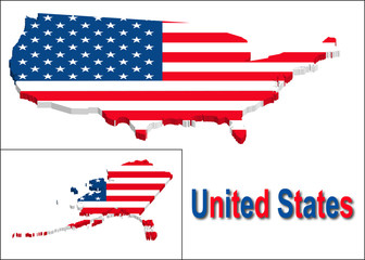 United states territory with flag texture.