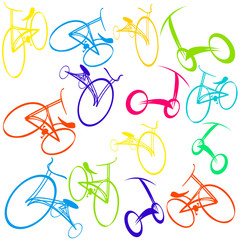 Background with bikes