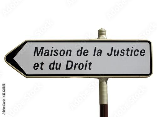 quot panneau directionnel maison de la justice et du droit quot photo libre de droits sur la banque d