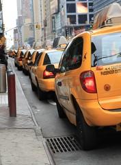 Foto auf AluDibond New York TAXI New York yellow taxis