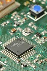 Closeup of an electronic board