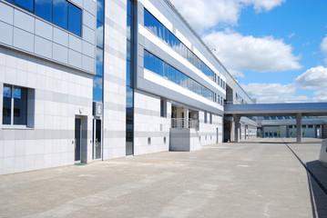 Modern office building against the blue sky