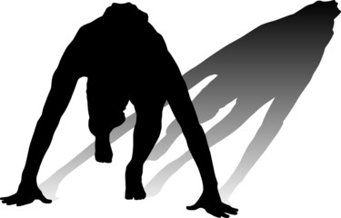 man recreation vector silhouette