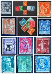 Composition de timbres de collection