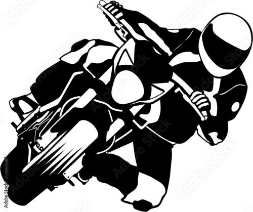 Quot Moto Virage Quot Fichier Vectoriel Libre De Droits Sur La Banque D Images Fotolia Com Image 23655684