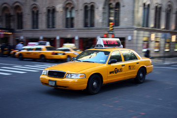 Foto op Canvas New York TAXI Yellow Cab