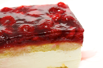 Mouth watering cherry cheesecake macro