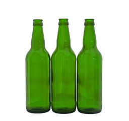 empty bottles for beer  isolated