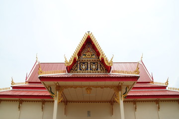 gable and roof of temple, Wat Nong Khee, Wapipatum, Mahasarakam