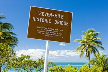 Seven-mile historic bridge, Florida Keys, Florida, USA