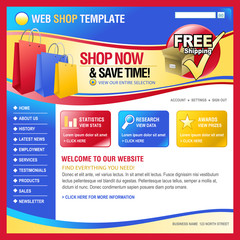 Colorful Internet Web Shopping Store template