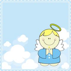 cute little angel greeting card