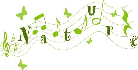 notes de musique nature