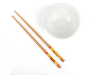 chopsticks with bowl