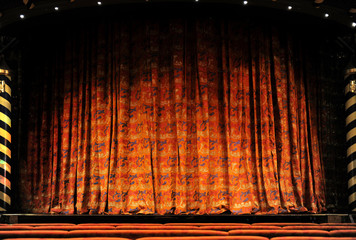 Wall Mural - Stage Curtains