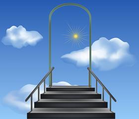 Steps leaders in the sky
