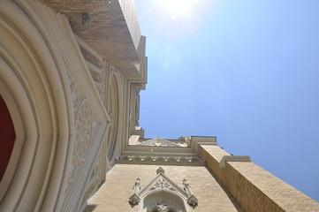 Church and sky