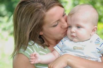 Kissing my son